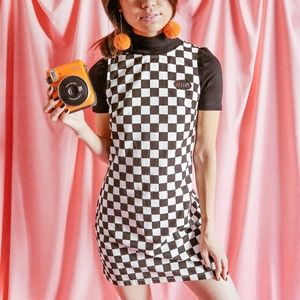 Delias Black & White Checkered Shift Dress
